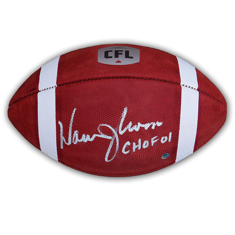 Warren Moon Autographed and Inscribed Wilson CFL Game Ball