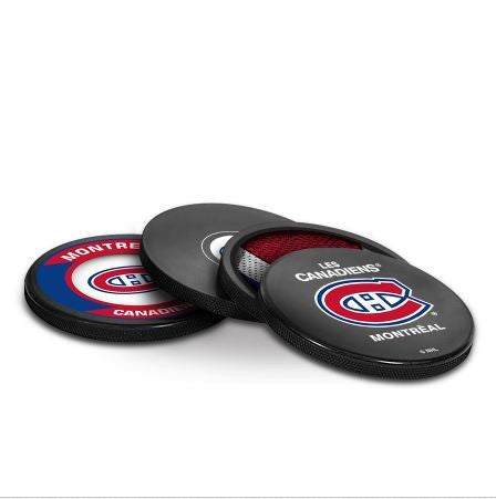 Montreal Canadiens Puck Coaster Set