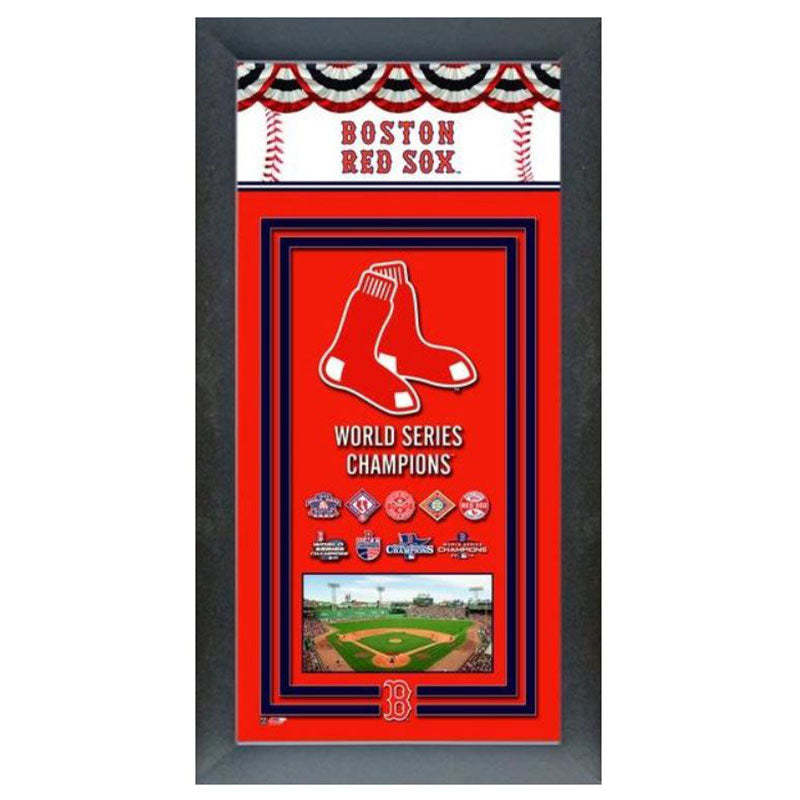 Boston Red Sox World Series Champions Banner Frame
