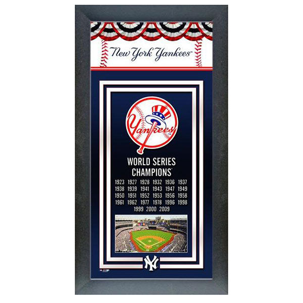 New York Yankees World Series Champions Banner Frame