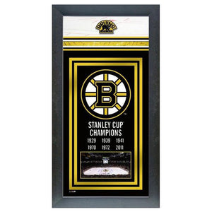 Boston Bruins Stanley Cup Champions Banner Mini Frame