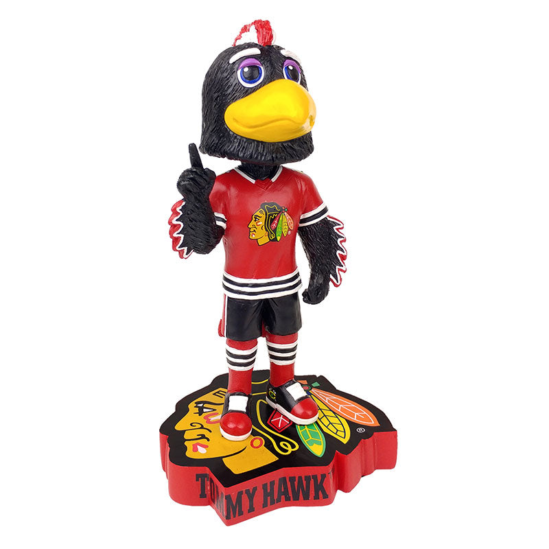 Chicago Blackhawks Mascot Logo Base Bobblehead