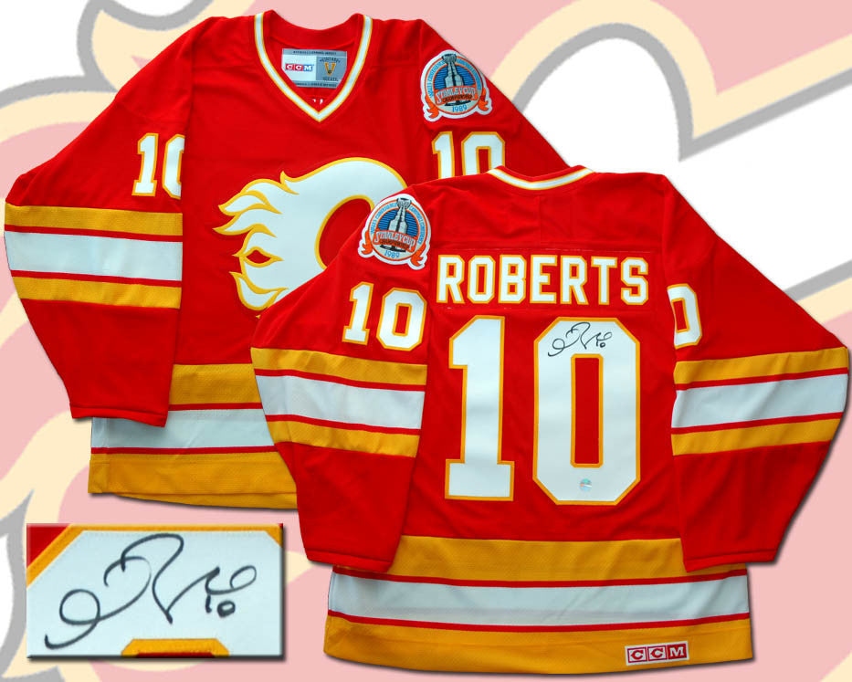 Gary Roberts Calgary Flames Autographed CCM Replica Jersey