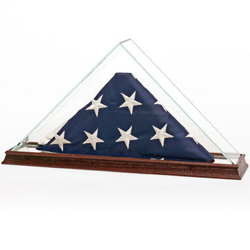 Glass Flag Display Case