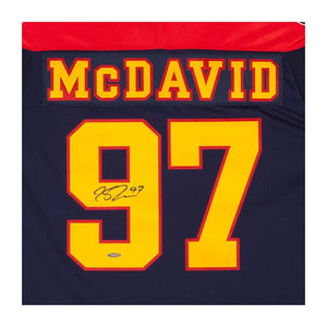 Connor McDavid Erie Otters Autographed Blue Authentic CCM Jersey