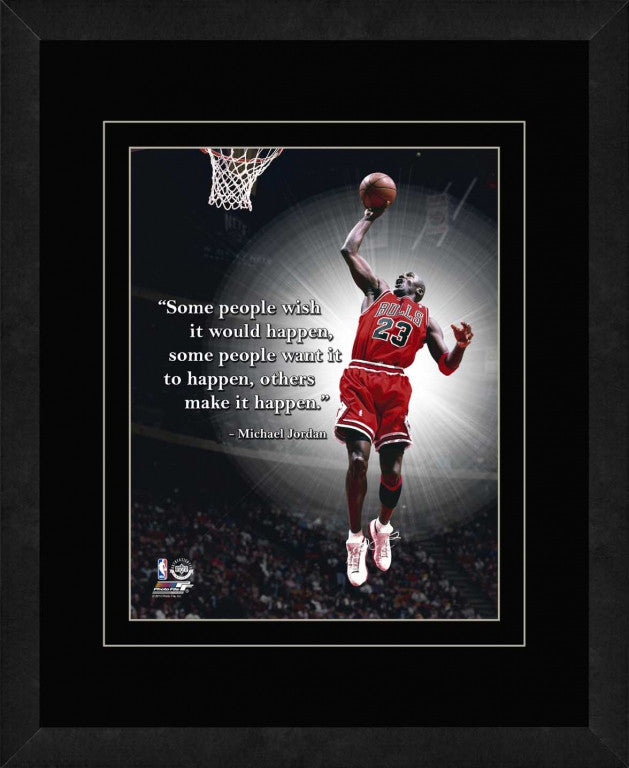Michael Jordan Chicago Bulls Framed 11x14 Pro Quote