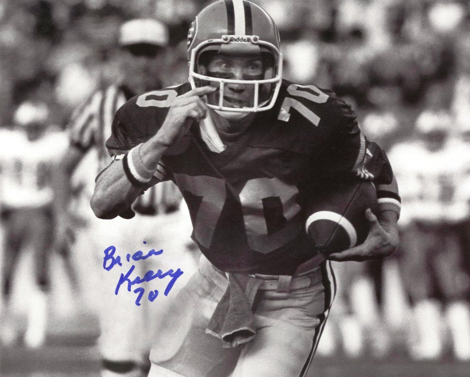 Brian Kelly Edmonton Eskimos Autographed 8x10 Photo