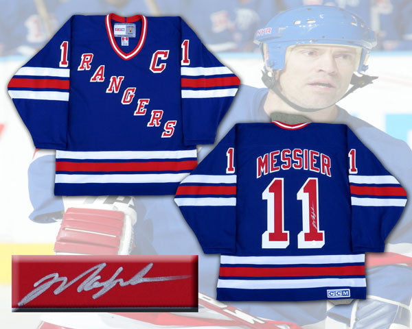 outlet store 212c8 3a997 Mark Messier New York Rangers Autographed CCM Replica Jersey