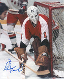 Bernie Parent - Philadelphia Flyers vs. Rangers Signed 8x10 Photo