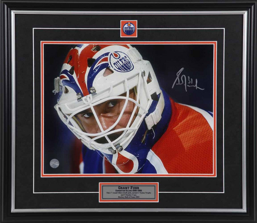 Grant Fuhr Edmonton Oilers - The Mask - Signed 11x14 Photo