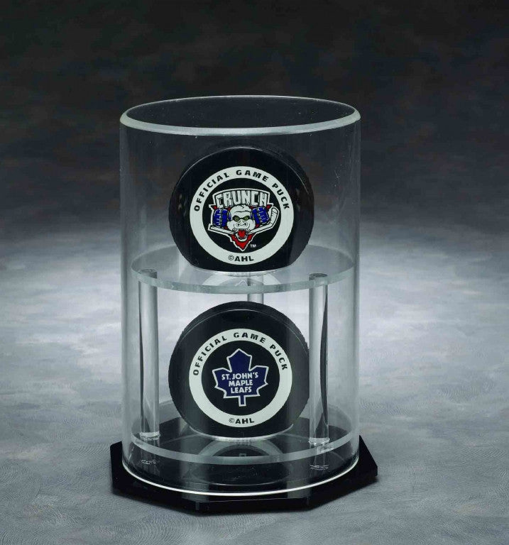 Round Double Puck / Baseball Acrylic Display Case