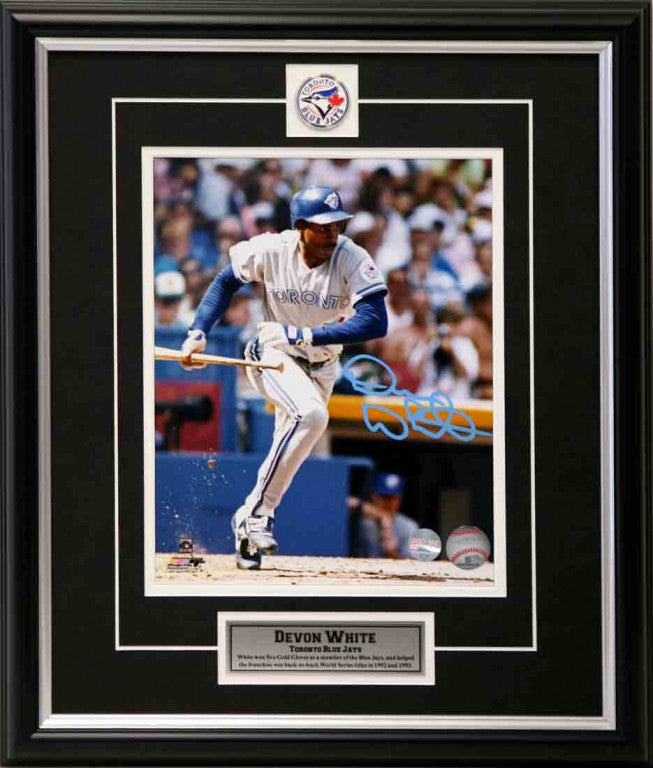 Devon White Toronto Blue Jays - At Bat - Signed 11x14 Photo