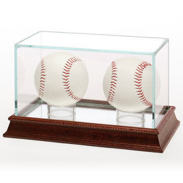 Glass Baseball 2 Ball Display Case