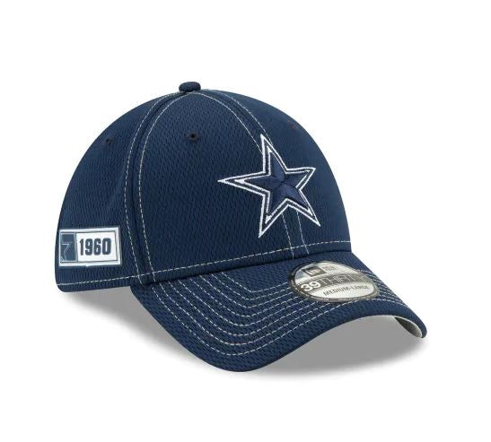 Dallas Cowboys Youth New Era 39Thirty 2019 NFL Sideline Cap
