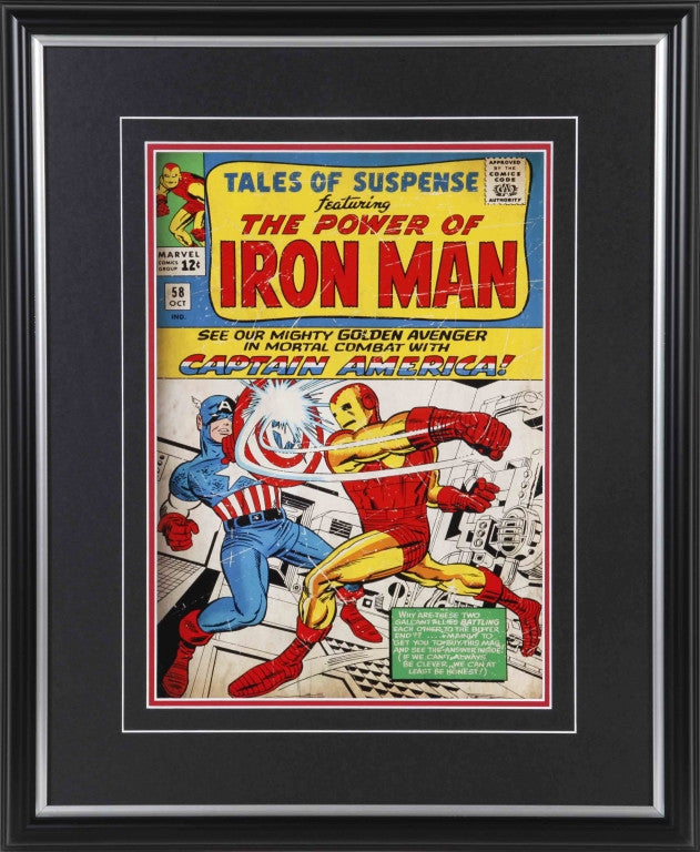 Tales of Suspense #58 Iron Man & Captain America 11x14 Framed Comic Cover