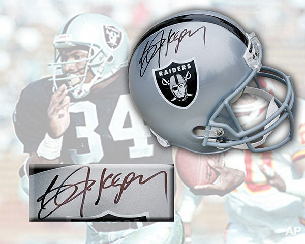 Bo Jackson Los Angeles Raiders Signed Deluxe Replica Helmet