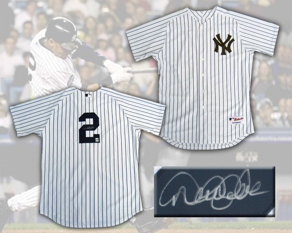 Derek Jeter New York Yankees Signed Authentic Home Pinstripe Jersey