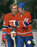 Steve Shutt Montreal Canadiens - Celebration w/ Lafleur - Signed 8x10 Photo