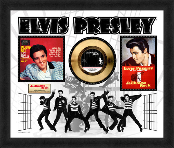 Elvis Presley Gold 45 Record 20x24 Frame LE/1957