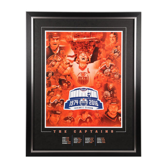 Framing Package for 2015-16 Oilers Season Seat Holder Litho