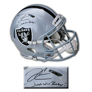 Derek Carr Oakland Raiders Autographed & Inscribed Speed Authentic Helmet