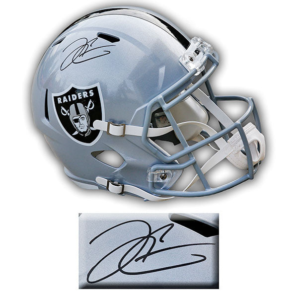 Derek Carr Oakland Raiders Signed Riddell Speed Replica Helmet