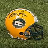 Mike Pringle Edmonton Eskimos Signed Mini Helmet