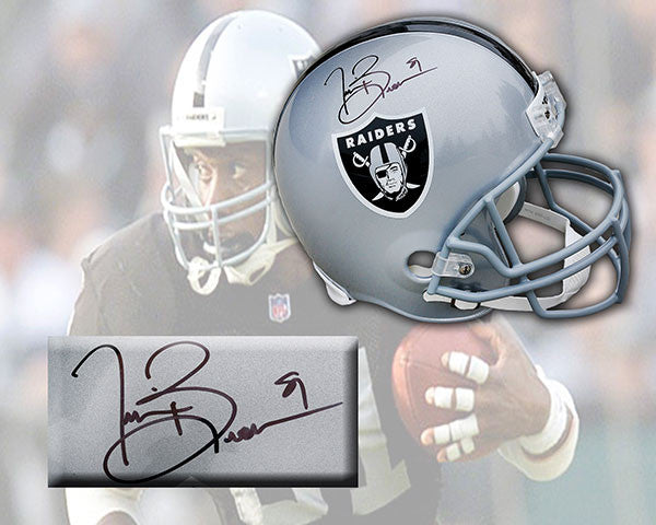 Tim Brown Oakland Raiders Autographed NFL Deluxe Replica Helmet