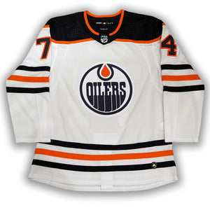 Ethan Bear Cree Edmonton Oilers Autographed Road Pro Jersey