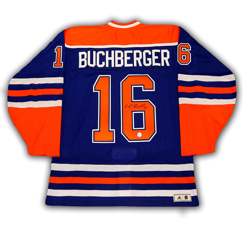 Kelly Buchberger Edmonton Oilers Signed Blue adidas Vintage Pro Jersey