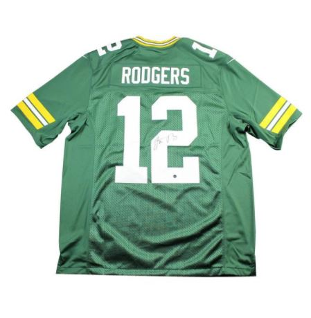 98eeb440c7e Aaron Rodgers Green Bay Packers Autographed Home Jersey – Pro Am Sports