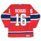 Henri Richard Montreal Canadiens Autographed CCM Replica Jersey