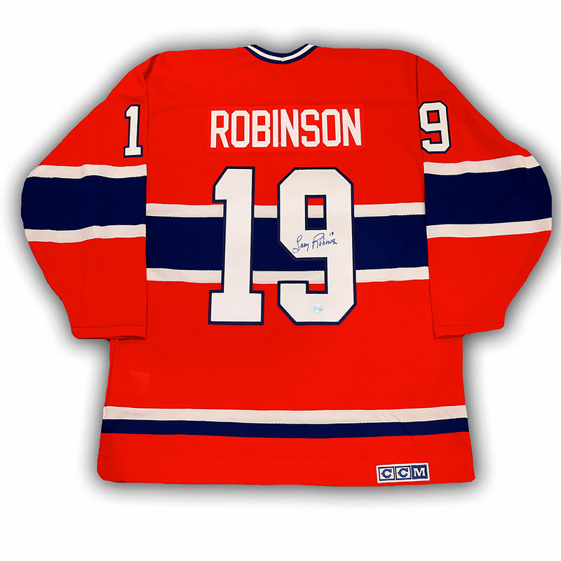 newest 412f6 ba563 Larry Robinson Montreal Canadiens Signed CCM Replica Jersey