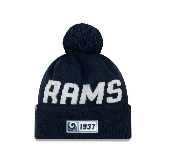 Los Angeles Rams New Era 2019 Sideline Cuff Knit