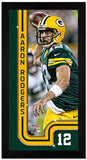 Aaron Rodgers Green Bay Packers Mini Frame