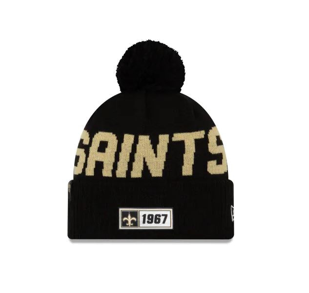 New Orleans Saints New Era 2019 Sideline Cuff Knit