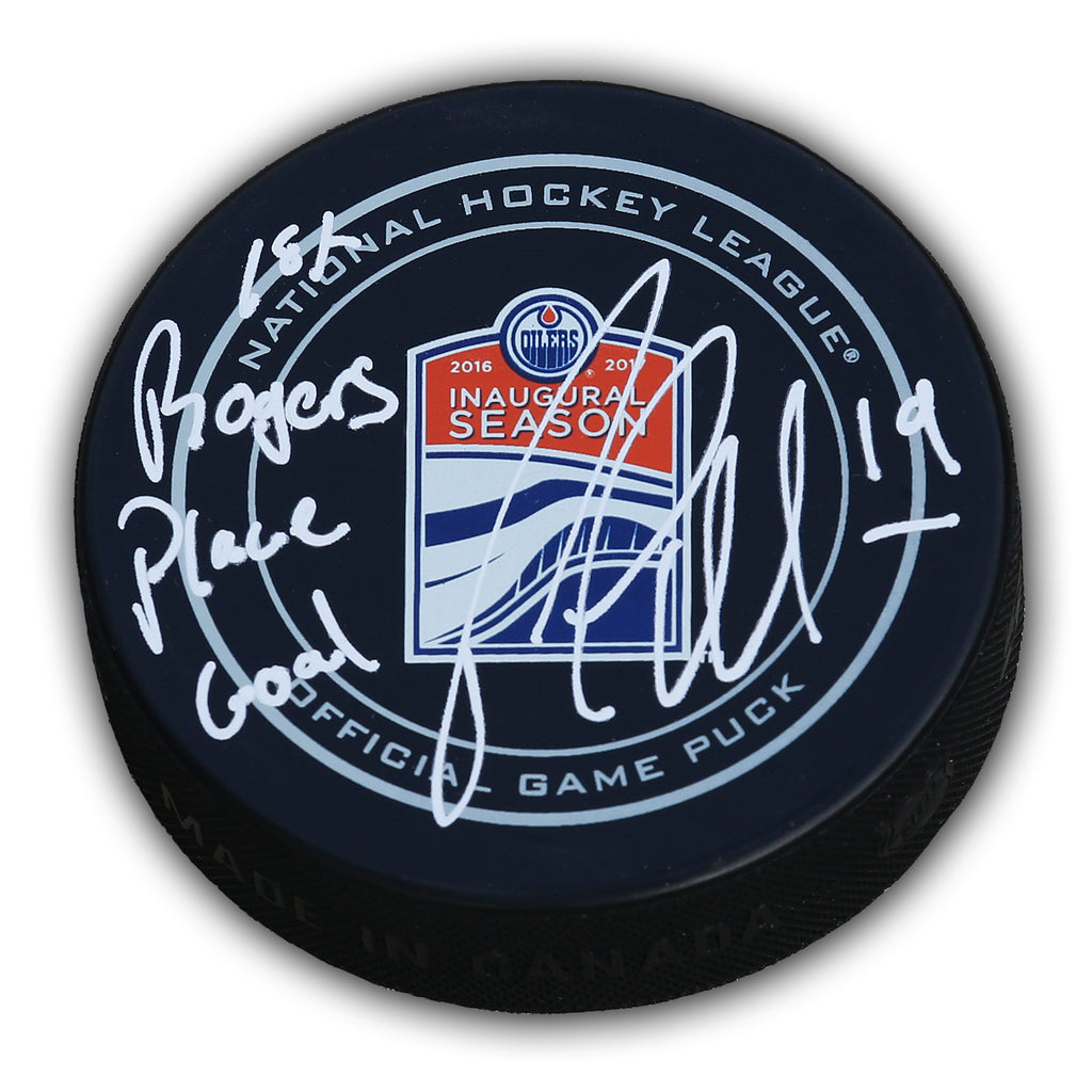 Patrick Maroon Edmonton Oilers Autographed Game Puck w/ Inscription