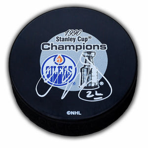Charlie Huddy Edmonton Oilers Autographed Puck