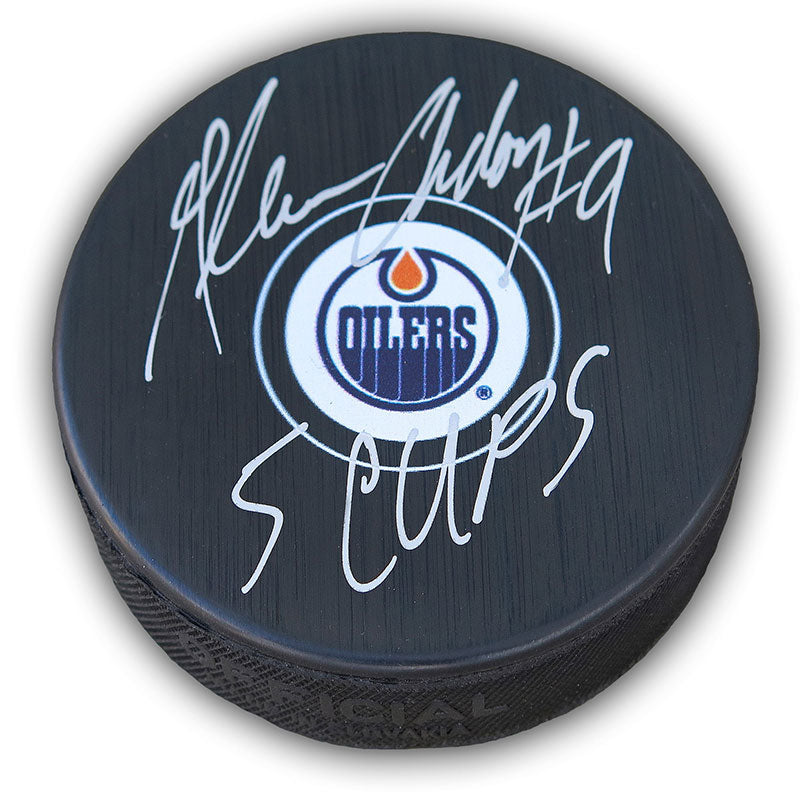Glenn Anderson Edmonton Oilers Autographed and Inscribed Puck