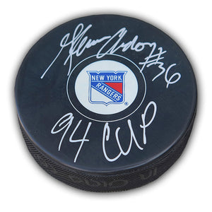 Glenn Anderson New York Rangers Autographed and Inscribed Puck