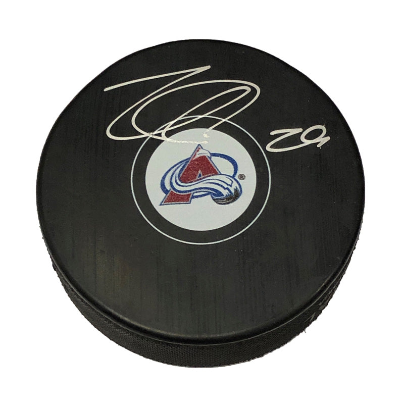Nathan MacKinnon Colorado Avalanche Autographed Puck