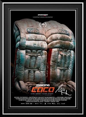 "Grant Fuhr Edmonton Oilers ""Making Coco"" Signed Movie Poster"