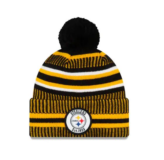 Pittsburgh Steelers New Era 2019 Sideline Cuff Knit