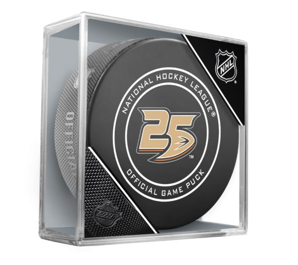 Anaheim Ducks 25th Anniversary 2018-2019 Official NHL Game Puck