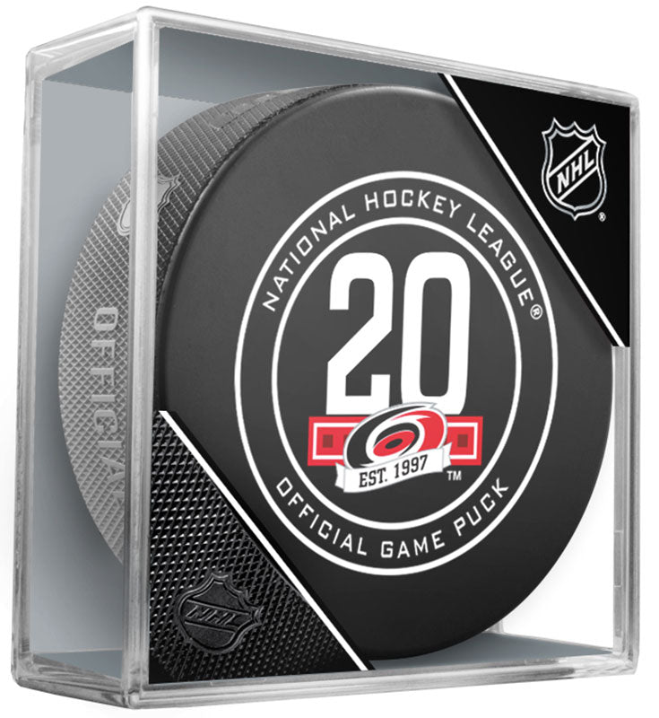 Carolina Hurricanes 20th Anniversary 2017-2018 Official NHL Game Puck