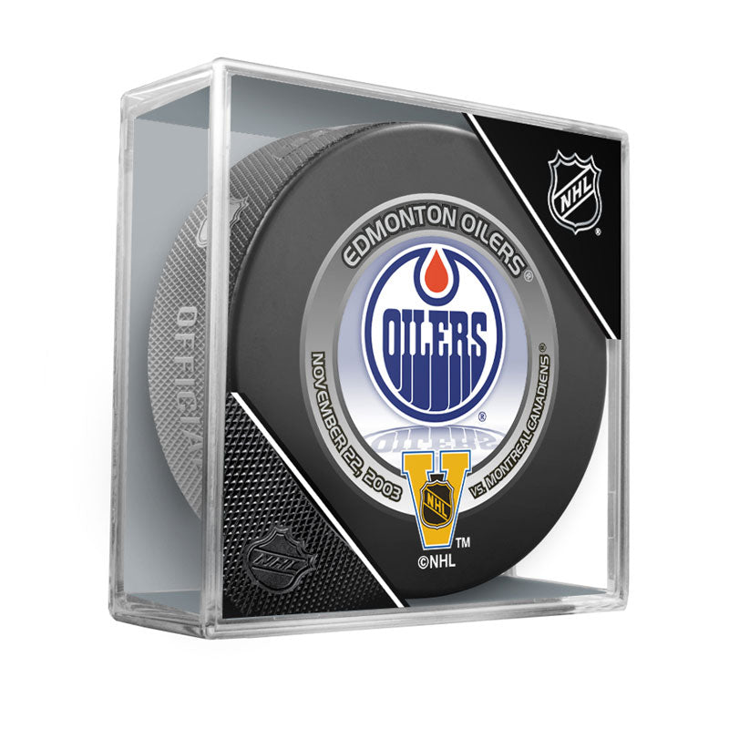 Edmonton 2003 Heritage Classic Official NHL Game Puck