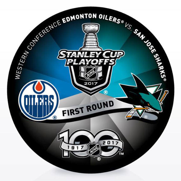 Edmonton Oilers vs San Jose Sharks 2017 Playoffs Dueling Puck