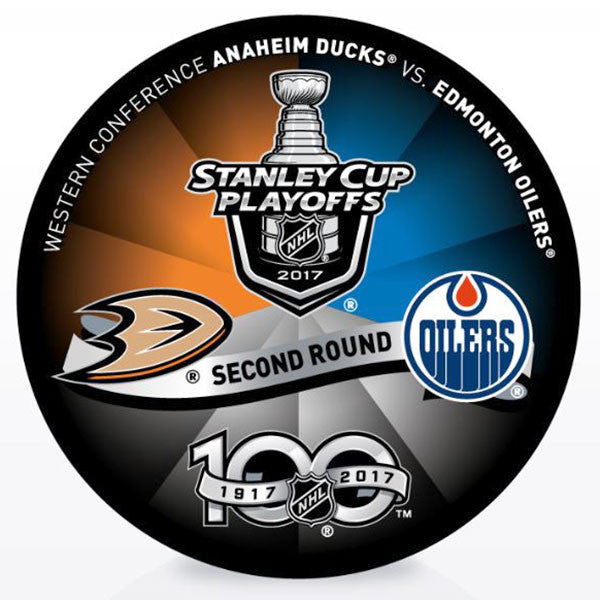 Edmonton Oilers vs Anaheim Ducks 2017 Playoffs Dueling Puck