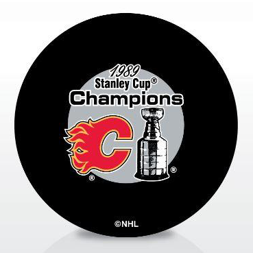 Calgary Flames 1989 Stanley Cup Champions Puck – Pro Am Sports bfa58859b