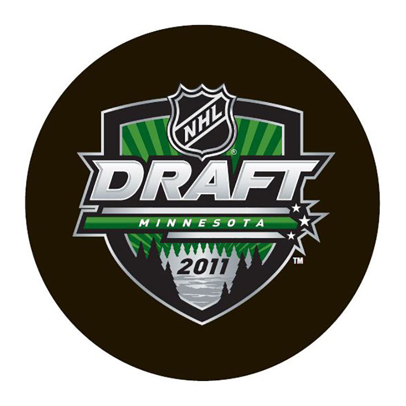 2011 NHL Draft Minnesota Unsigned Puck